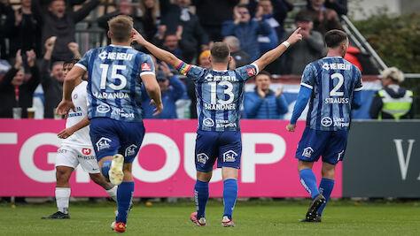 Blau Weiß Linz in 2. Liga mit 3:1-Sieg gegen Young Violetts